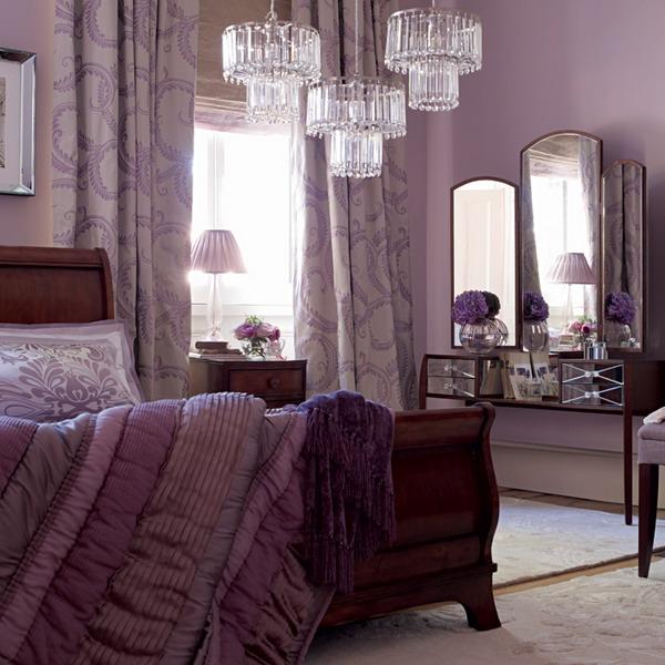 Dormitorios con acentos en morado p rpura y lila dormitorios con estilo - Schlafzimmer pink ...