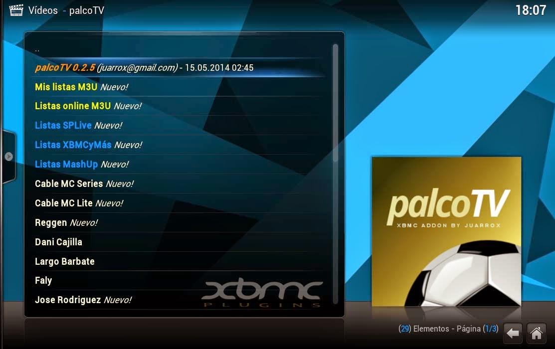 XBMC PALCOTV