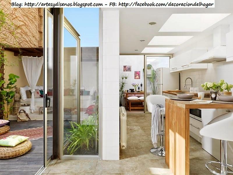 Decoraci n de terraza integrada con cocina decoraci n for Cocinas en terrazas