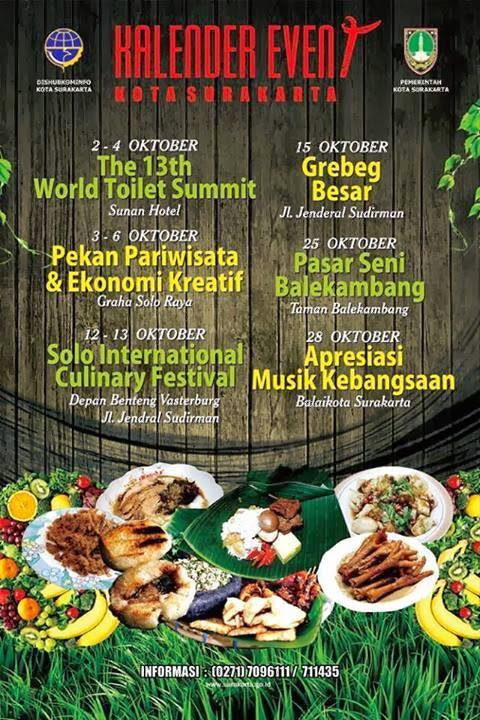 agenda kota solo bulan oktober 2013