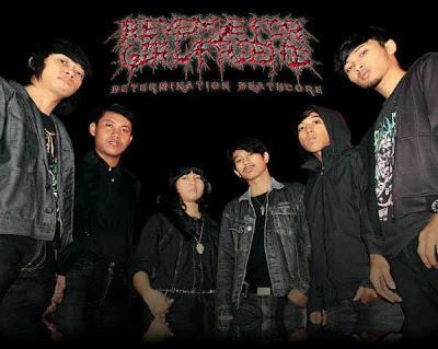 Revenge For Girlfriend Band Determination Deathcore Surabaya Foto Personil Logo Wallpaper 