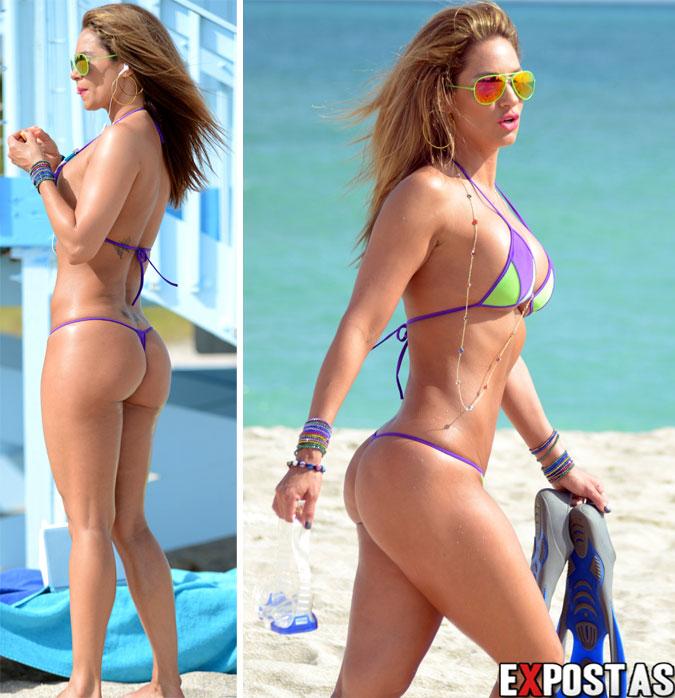 Jennifer Nicole Lee de biquíni em Miami Beach - 07 de Dezembro de 2012