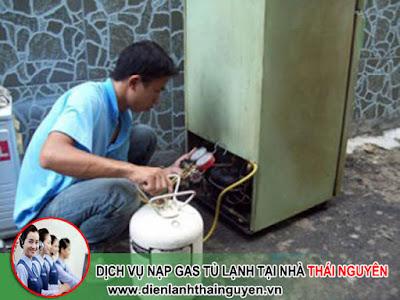 Nạp Gas Tủ lạnh tại nhà Thái Nguyên