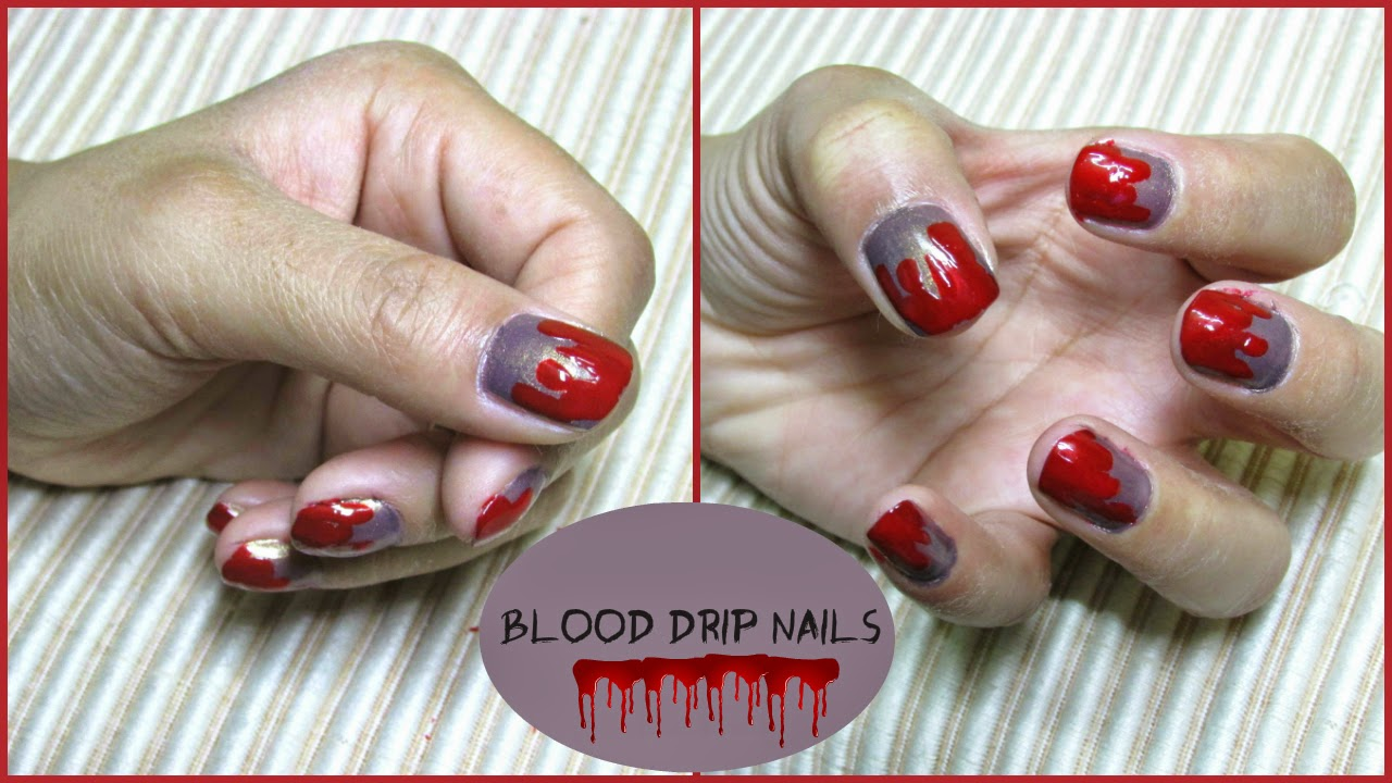 Blood drip nail art for halloween indian beauty diary nail nail art vampire nails vampire nail art halloween halloween nail prinsesfo Gallery