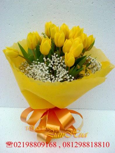 handbouquet bunga tulip kuning