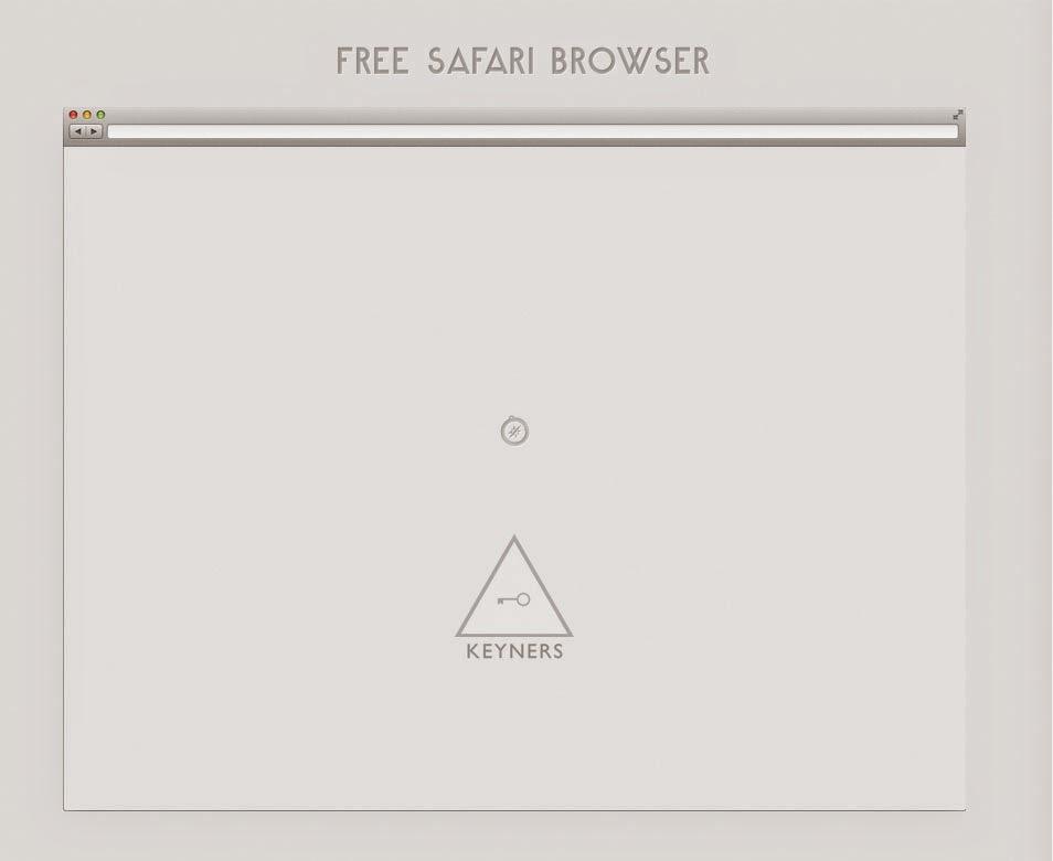 Free Safari Browser PSD