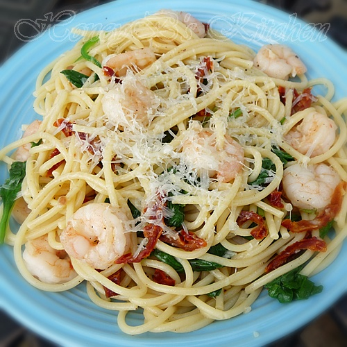 Garlic Shrimp With Spinach And Vermicelli Grumpy S Honey