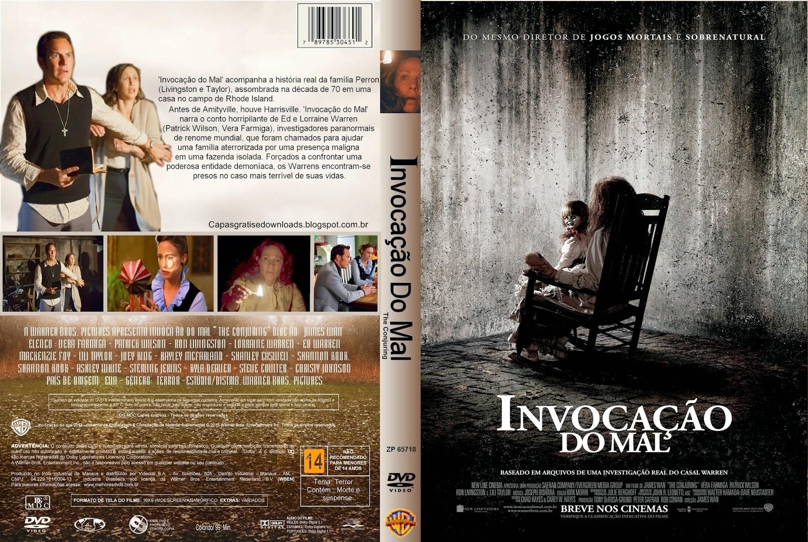 Filme Invocação do Mal DVD Capa