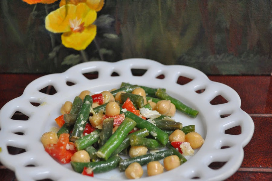 Green Beans and Garbanzos
