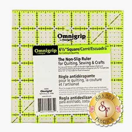 Omnigrip ruler 6 1/2 inch square | Shabby Fabrics