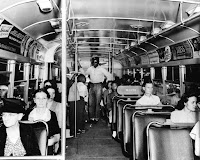 Photo: Segregated Birmingham, Alabama, Bus, Birmingham Public Library, via NPR