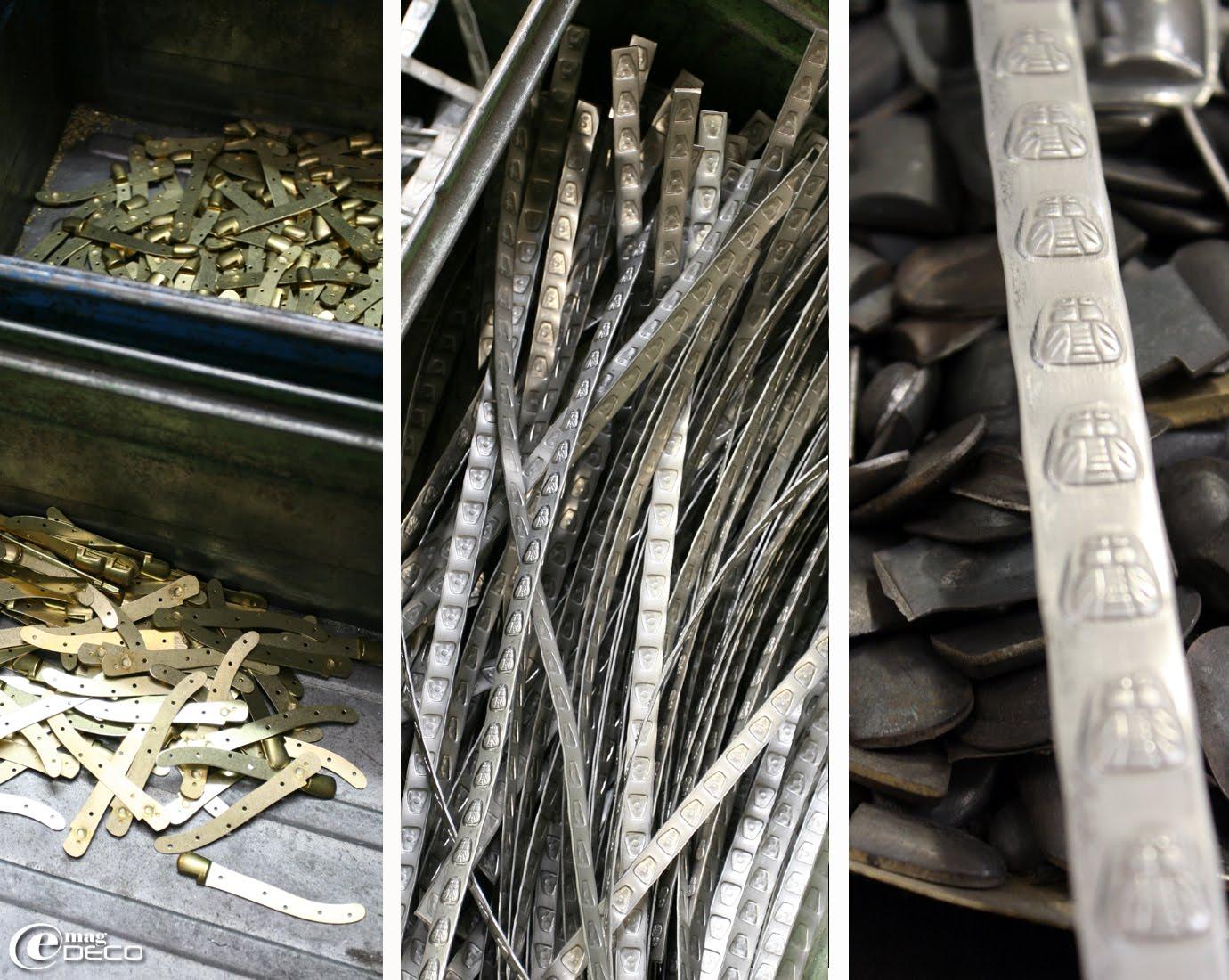 Platines et abeilles pour la fabrication artisanale des couteaux de Laguiole