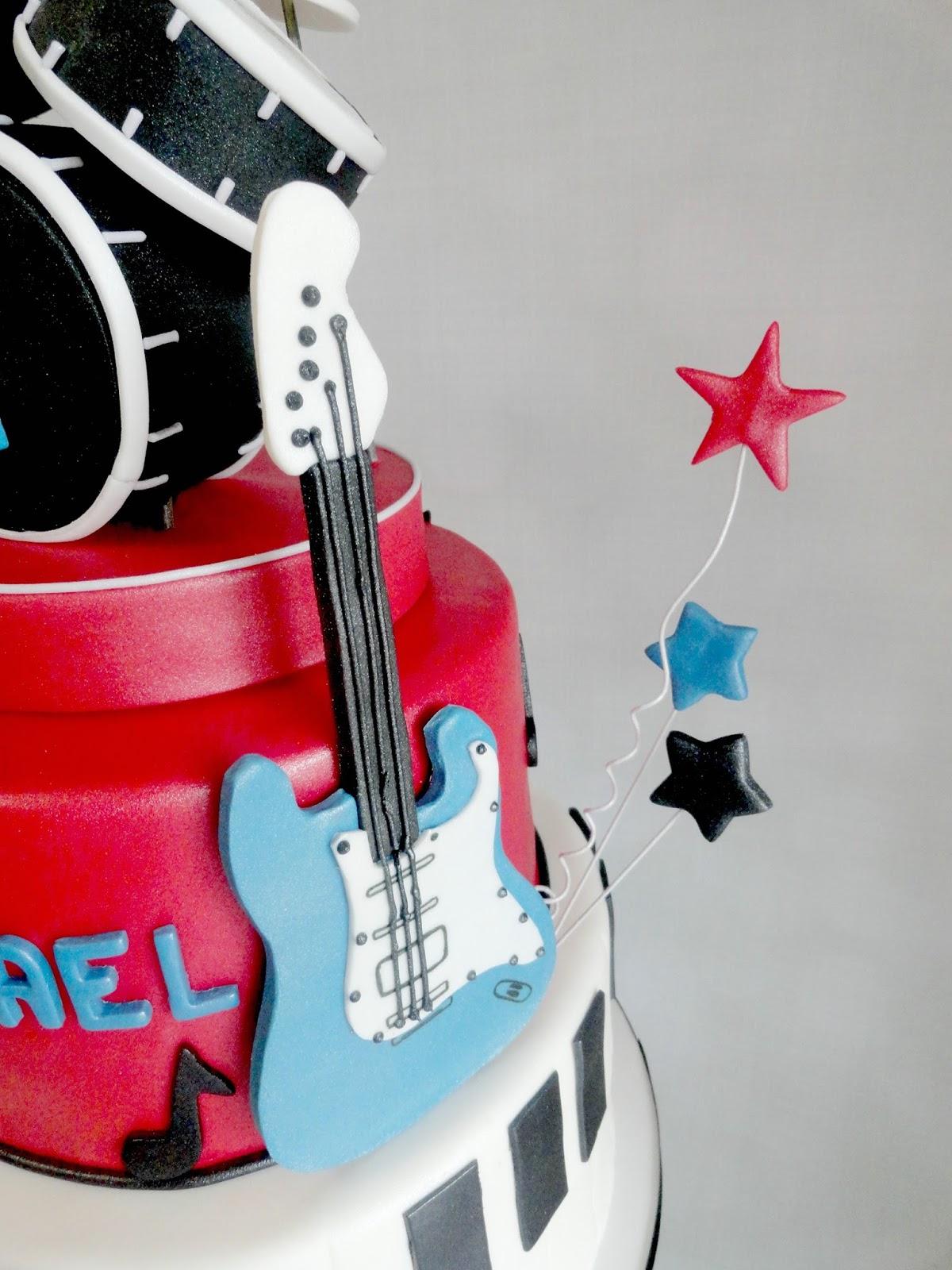 My Pink Little Cake 1st Birthday Rock Star Theme Cake