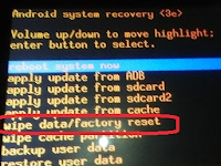 Factory Reset Tablet Advan