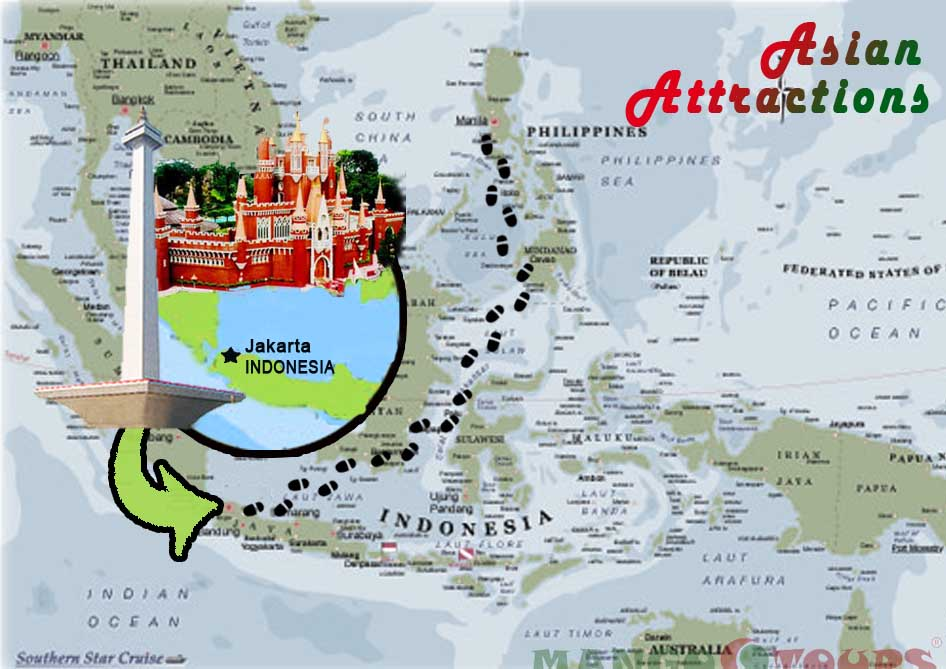 Mango Tours ASIAN ATTRACTIONS Jakarta Indonesia – Indonesia Tourist Attractions Map