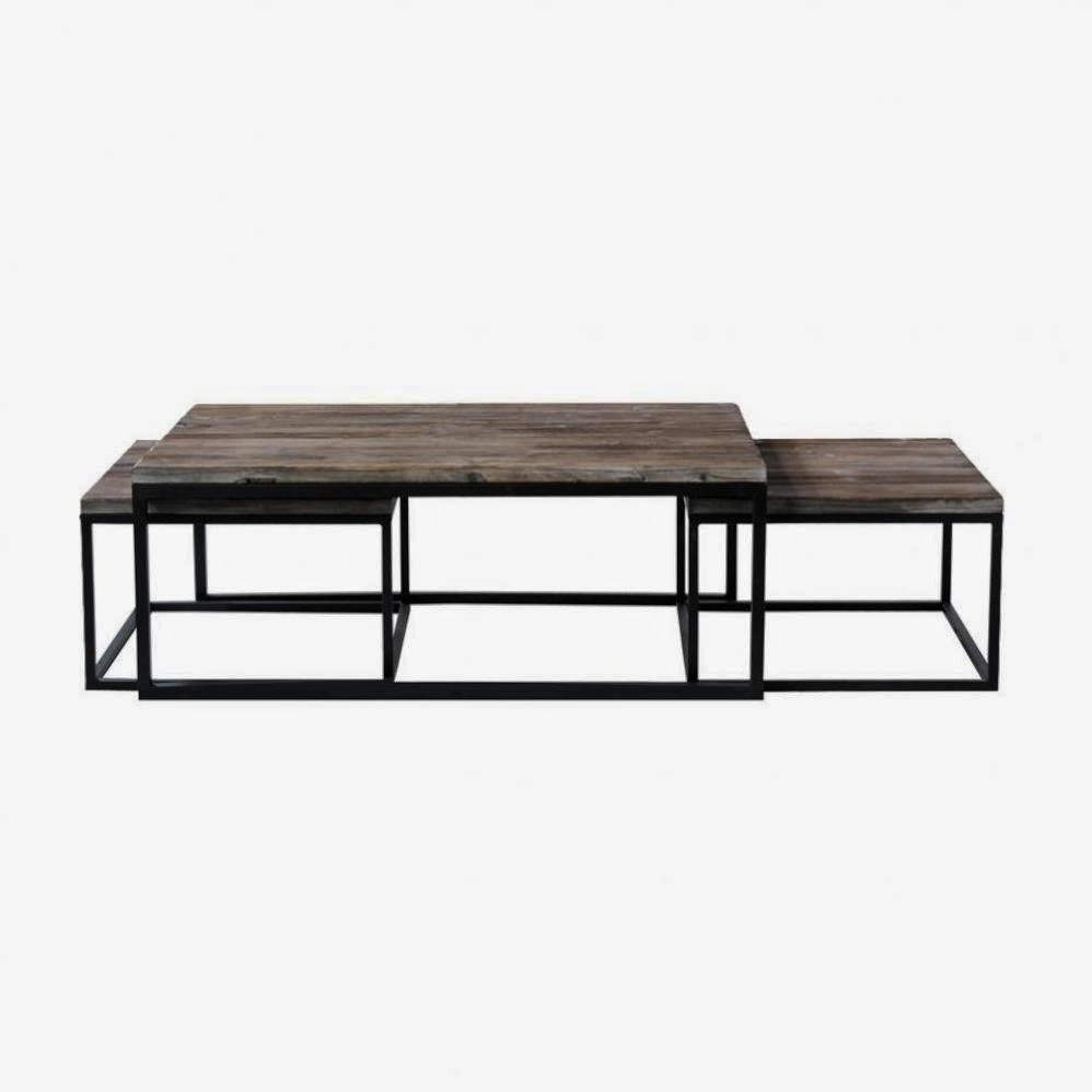 Les tables basses gigognes caract rielle for Maison du monde chemin de table