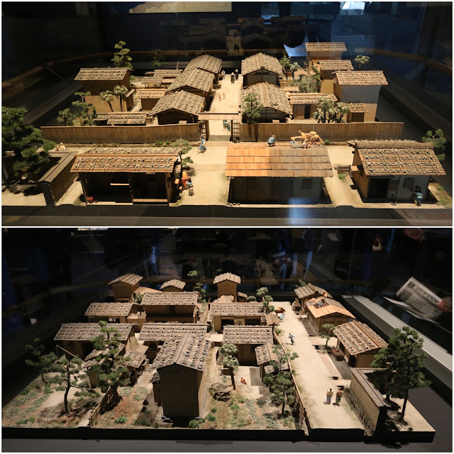 Japanese stay in straw houses in the early days at Museum of History in Osaka, Japan