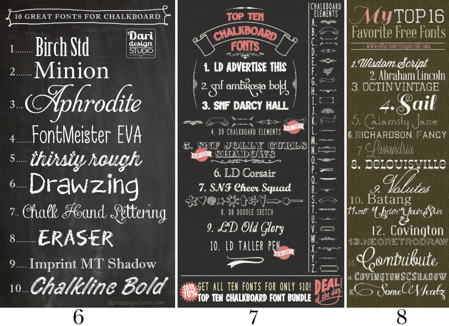 Mega chalkboard font round up the scrap shoppe Chalkboard typography