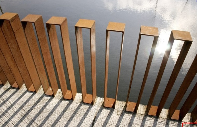 Corten steel designs and engineering for Architectural railings