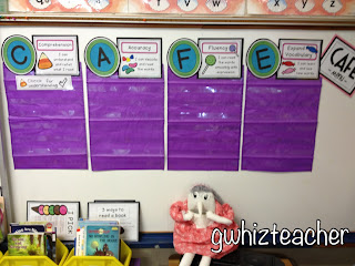 candy CAFE, daily five, gwhizteacher, TpT candy CAFE printables