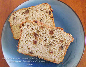 Pain au Raisin et Cannelle Sans Gluten - Gluten-Free Cinnamon Raisin Bread