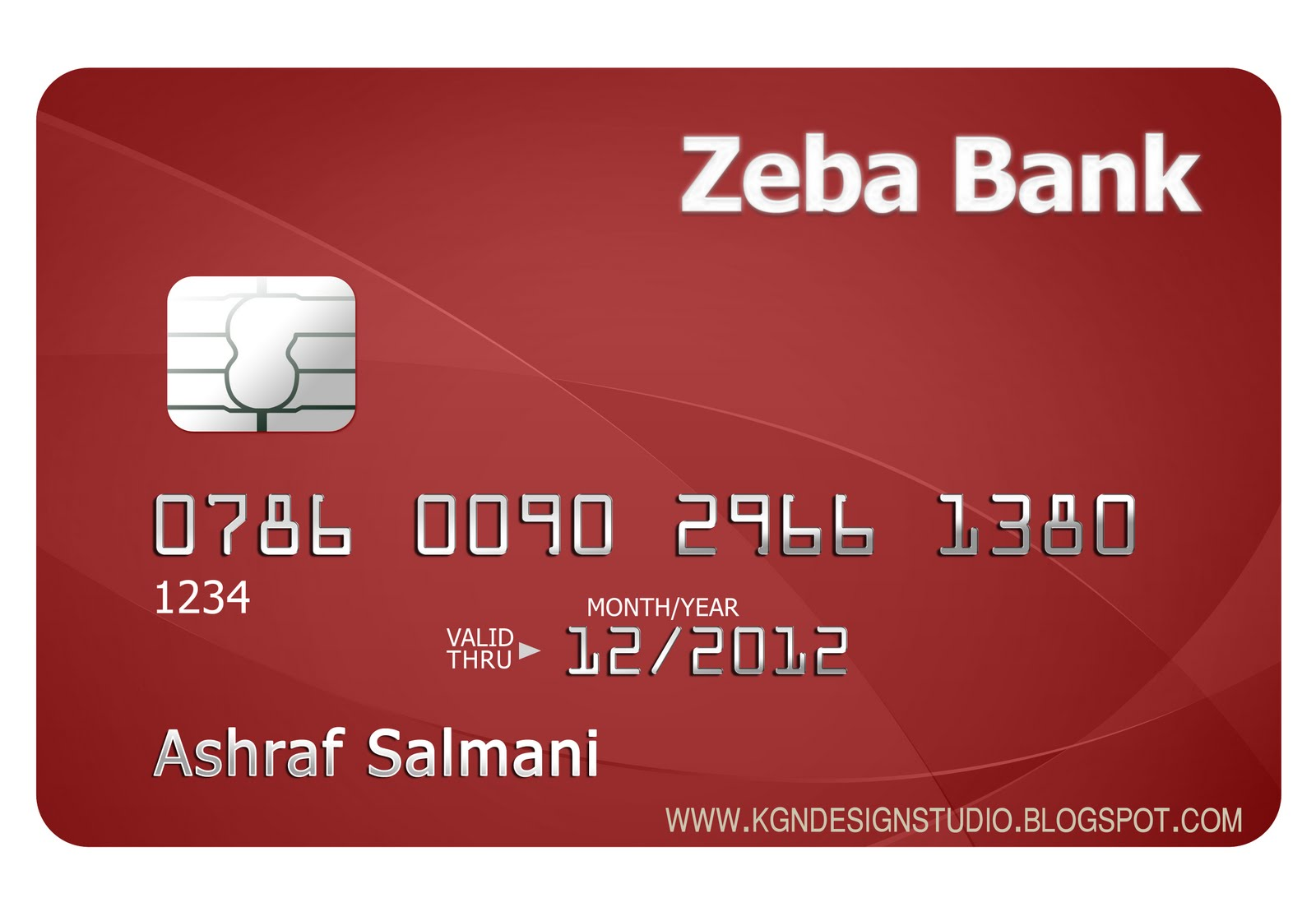 kgn design studio: credit card design