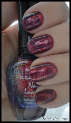 kleancolor purple chunky holo top coat