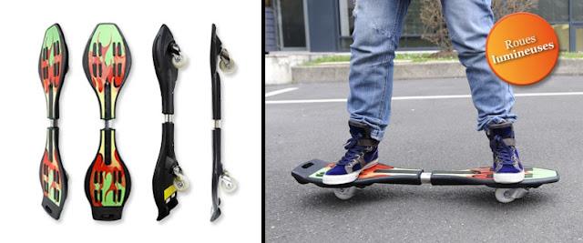 19,99 € le wave board aux roues lumineuses et son sac de transport