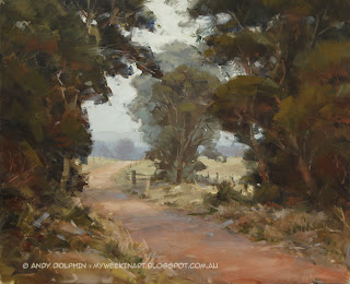plein air landscape in oil by andy dolphin