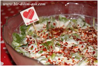 Yoğurtlu Semizotu Salatası-bir dilim aşk