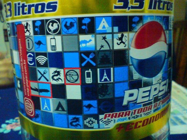 Pepsi de 3 litros com mensagem subliminar