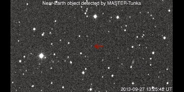 Asteroid detected by Sternberg Astronomical Institute © Photo Moscow State University/MASTER/Vladimir Lipunov