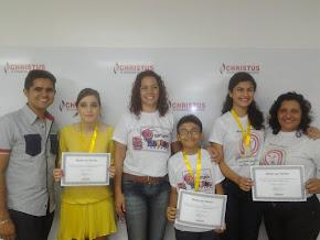 1º LUGAR nas três categorias do Concurso de Redação do Colégio Christus 2014