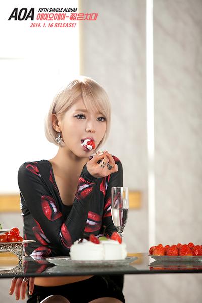 AOA Miniskirt Choa teaser