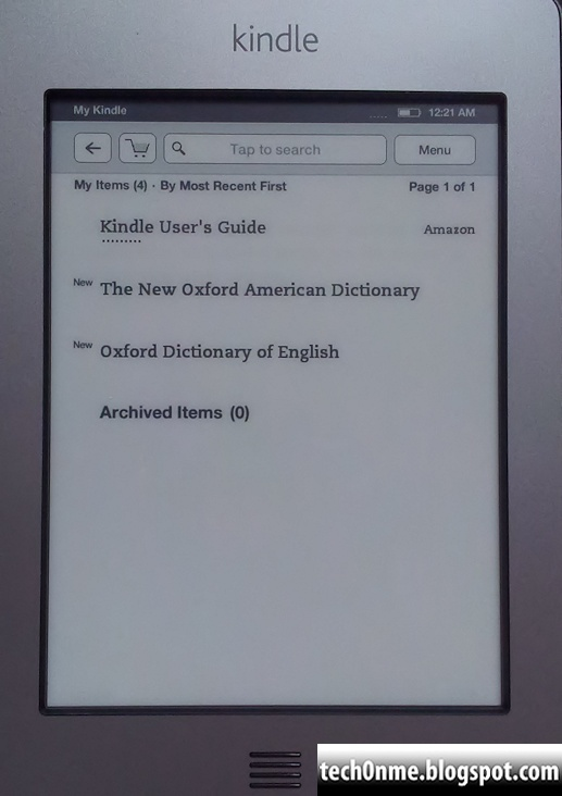 KINDLE LICENCE AGREEMENT AND TERMS OF USE