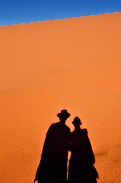 Shadows against the Sossusvlei Sand Dunes