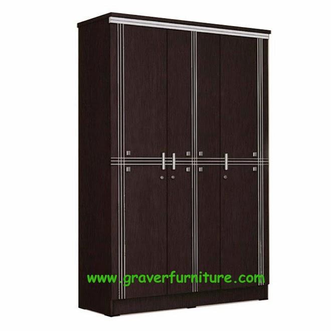 Lemari Pakaian 3 Pintu LP 8897 Popular Furniture