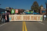 Protests like this one in Pittsburgh voice opposition to the pollution caused by fracking. (Credit: Marcellus Protest via Flickr) Click to Enlarge.