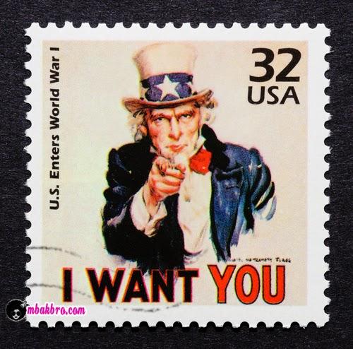 perangko 'Paman Sam'