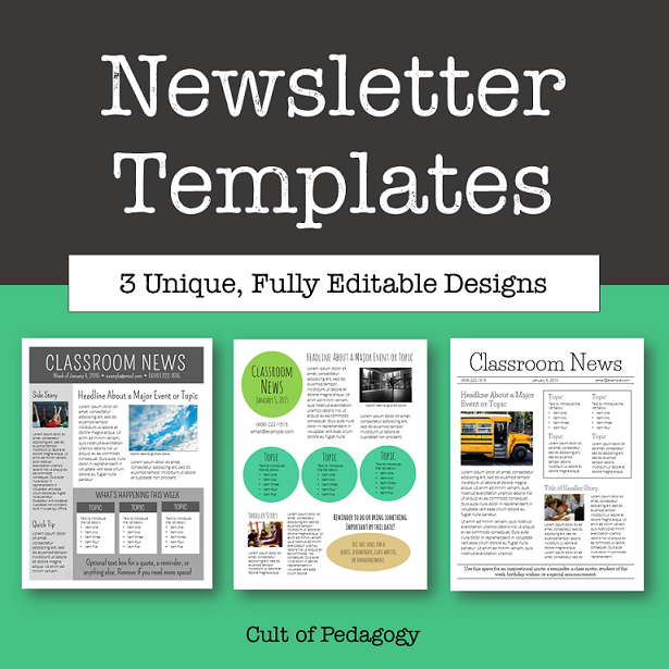 free editable newsletter templates corkboard connections why no one reads your classroom