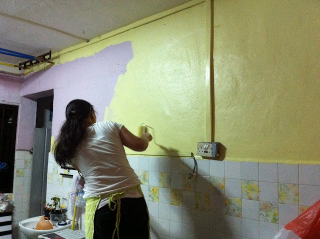 Painting the Wall Yellow