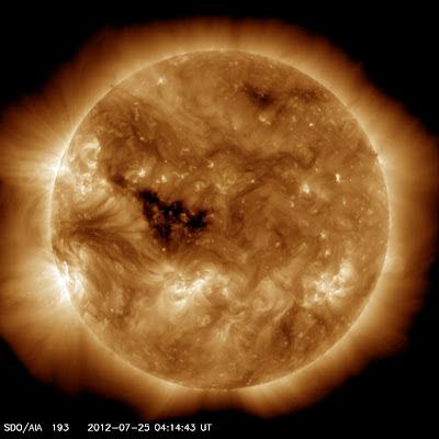 AGUJERO CORONA SOLAR 26 DE JULIO 2012
