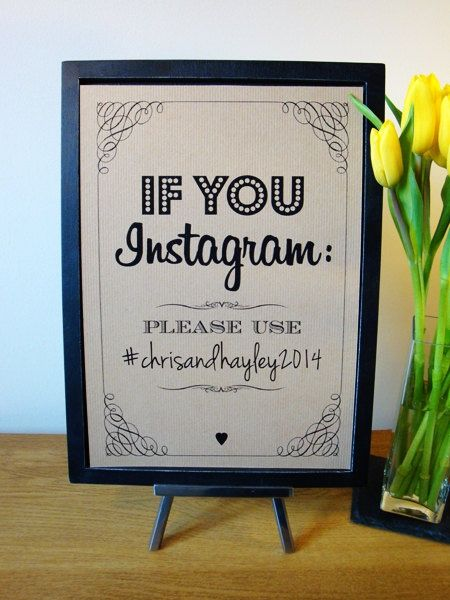cartel boda instagram