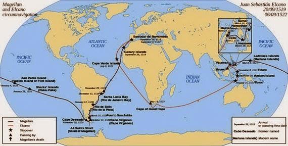 Magellan Circumnavigates the Globe