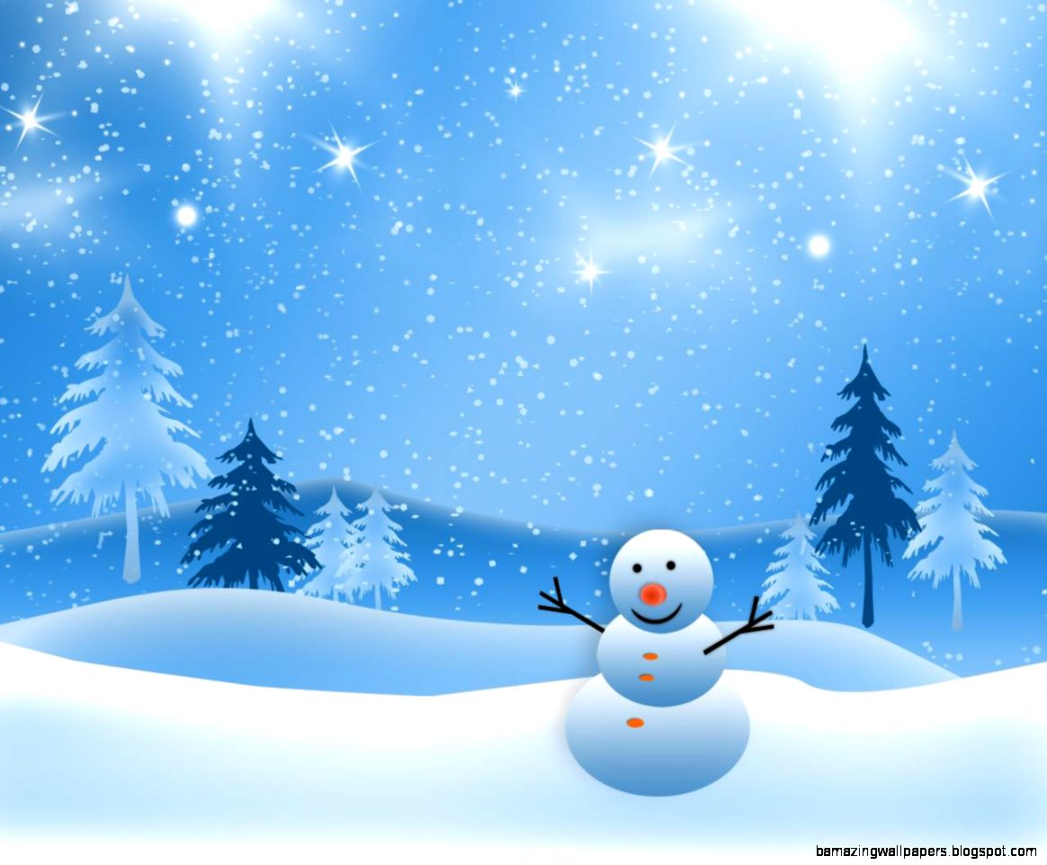 Winter Snowman Wallpaper   WallpaperSafari