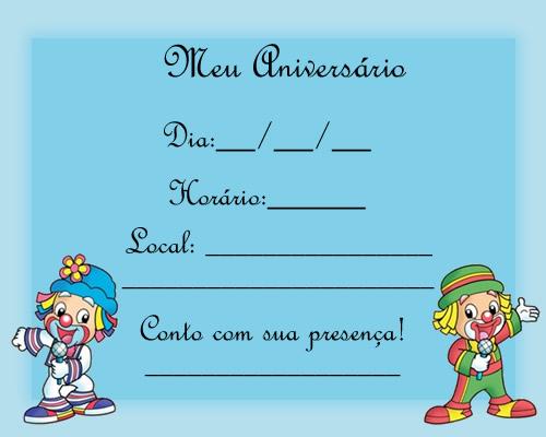 Mais convites de aniversário infantil em www.aniversariodecrianca.com