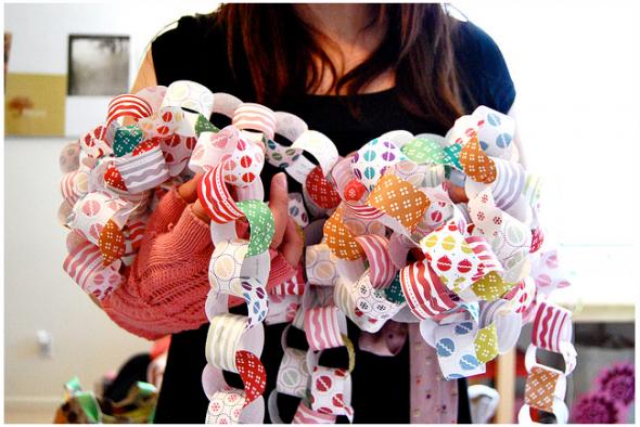 Guirnaldas para San Valentín en Recicla Inventa