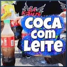 Desafio da Coca com Leite