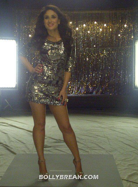 Kareena Kapoor Heroine Movie  Sexy Dress - (6) - Kareena Kapoor Heroine Movie Silver Short Dress Hot Pics