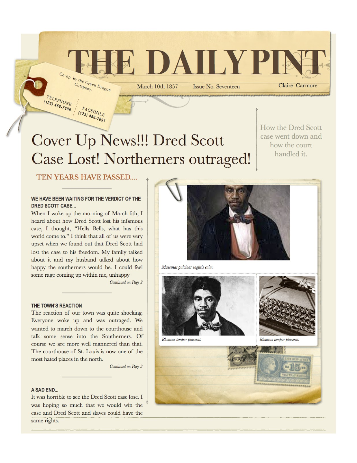 Dred scott research papers
